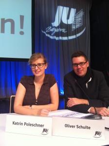 Vorsitzende Katrin Poleschner mit ihrem Stellvertreter Oliver Schulte