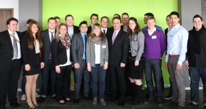 Teile der JU Schweinfurt mit Bundesinnenminister Dr. Hans-Peter Friedrich