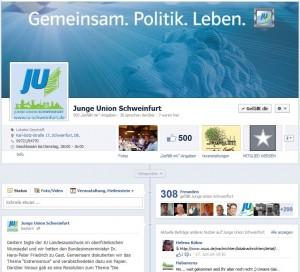 Facebook-Auftritt der JU Schweinfurt