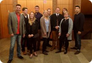 """Das Team der """"jungen CSU"""" für die Stadtratswahl 2014 (es fehlt im Bild Marc-Aurel)"""