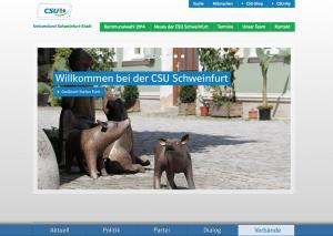 Unsere neue Homepage der CSU Schweinfurt